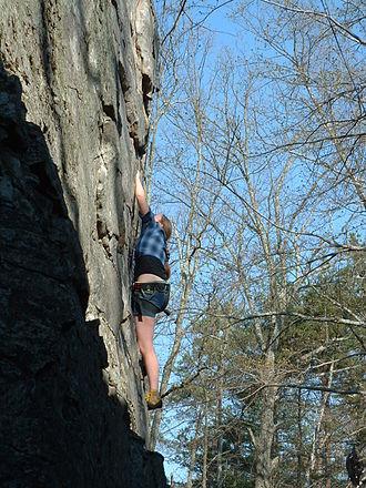 Rocktown (Georgia) - Ascending an unnamed wall at Rocktown, GA USA