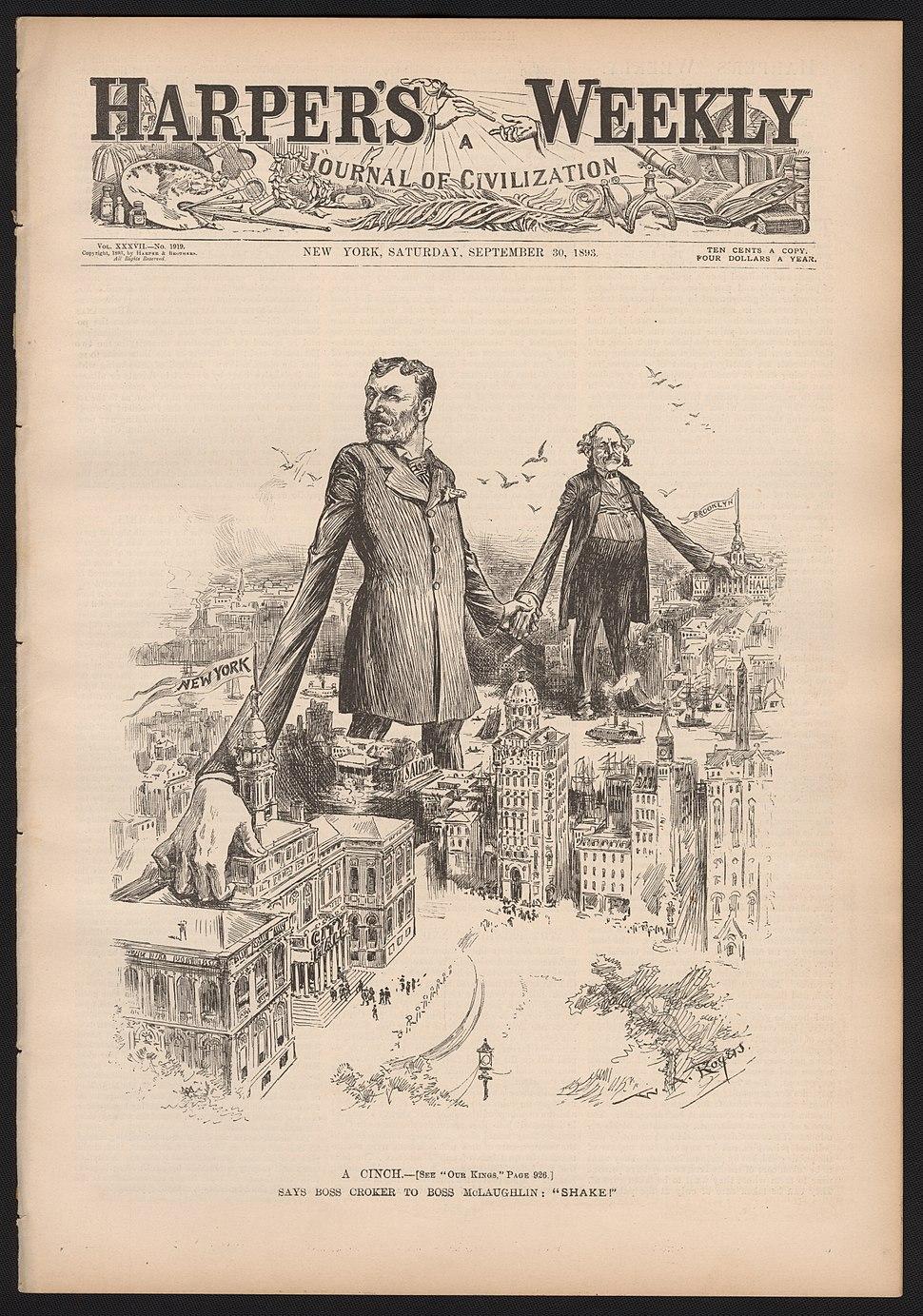 Rogers, W. A. (William Allen), Rogers A Cinch 1893 Cornell CUL PJM 1112 01