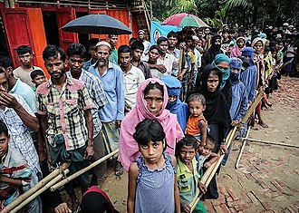 Persecution of Muslims in Myanmar - Rohingyas at the Kutupalong refugee camp in Bangladesh, October 2017
