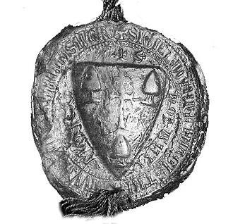 Roland I Rátót - Seal of Roland I Rátót in 1255