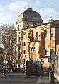 Rom, die Kirche San Gregorio della Divina Pietà und die Große Synagoge.JPG