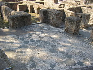 English: Ancient Roman mosaics in Ostia Antica