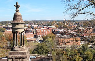 Rome, Georgia - View of Rome from Myrtle Hill Cemetery