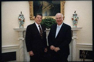 Shirley Abbott (ambassador) - Image: Ronald Reagan with ambassador Shirley Abbott