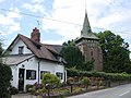Rose Cottage and Holy Trinity, Capenhurst - geograph.org.uk - 216645.jpg