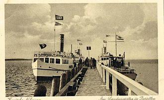 Rybachy, Kaliningrad Oblast - Rossitten pier, 1930s/40s