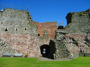 Rothesay Castle - The vaulted entrance tunnel.