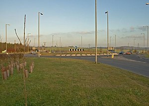 A6 road (England) - Start of Barton-le-Clay bypass near Streatley
