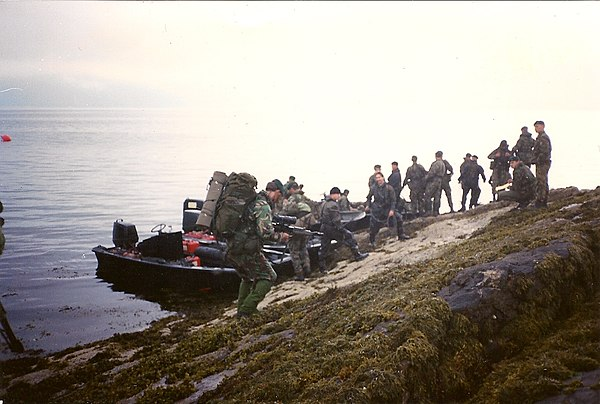 Royal Marines during an exercise in Scotland