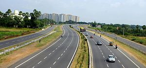 Indian road network - Vijayawada-Guntur Expressway in Andhra Pradesh
