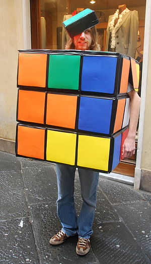 Rubik's Cube in popular culture - Cosplay as a Rubik's Cube at Lucca Comics and Games (2008)
