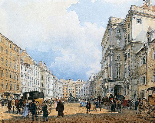 Rudolf von Alt – Neuer Markt (Mehlmarkt), Vienna, 1836