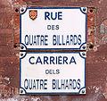 Rue des Quatre-Billards - Plaques.jpg