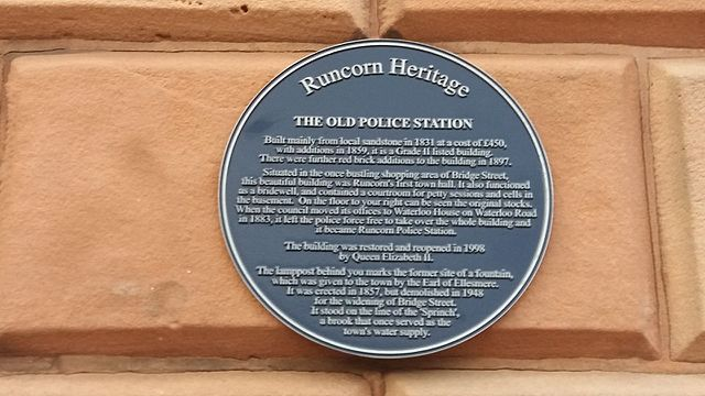 Photo of Sprinch and Old Police Station, Runcorn blue plaque