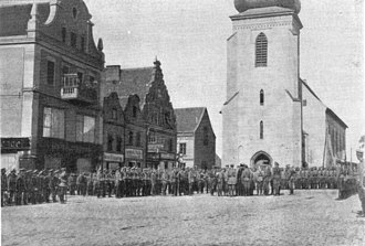 Russian invasion of East Prussia (1914) - Image: Russian Guard in Insterburg