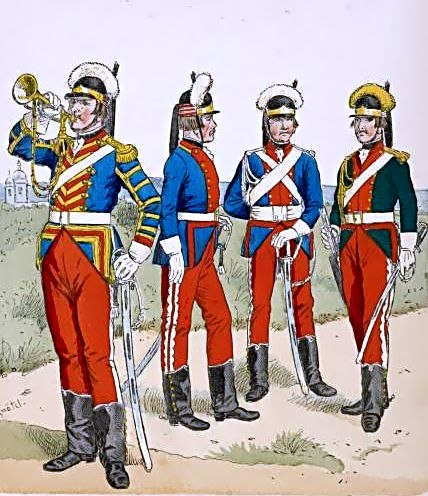Russian troopers 1786-1796