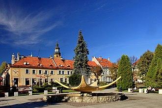Wodzisław Śląski - Fountain at the market square