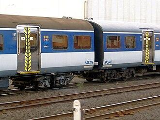 New Zealand British Rail Mark 2 carriage - Image: SA5703 SA5847Auckland 100205