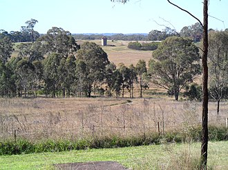 Scheyville, New South Wales - Training farm fields and early 1900s silo