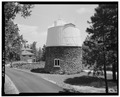 SIDE ELEVATION, LOOKING NORTH - Lowell Observatory, Pluto Dome, 1400 West Mars Road, Flagstaff, Coconino County, AZ HABS ARIZ,3-FLAG,1C-3.tif