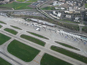 San Jose International Airport - SJC aerial photo of Terminals A and B