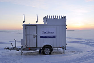 SODAR - AQ500 SoDAR used in wind energy development and wind condition monitoring.