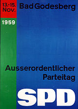 Poster for the Godesberg party conference of the SPD