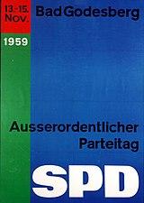 Plakat zum Godesberger Parteitag der SPD