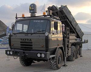 SPYDER - A missile firing unit (MFU) of the SPYDER-SR system