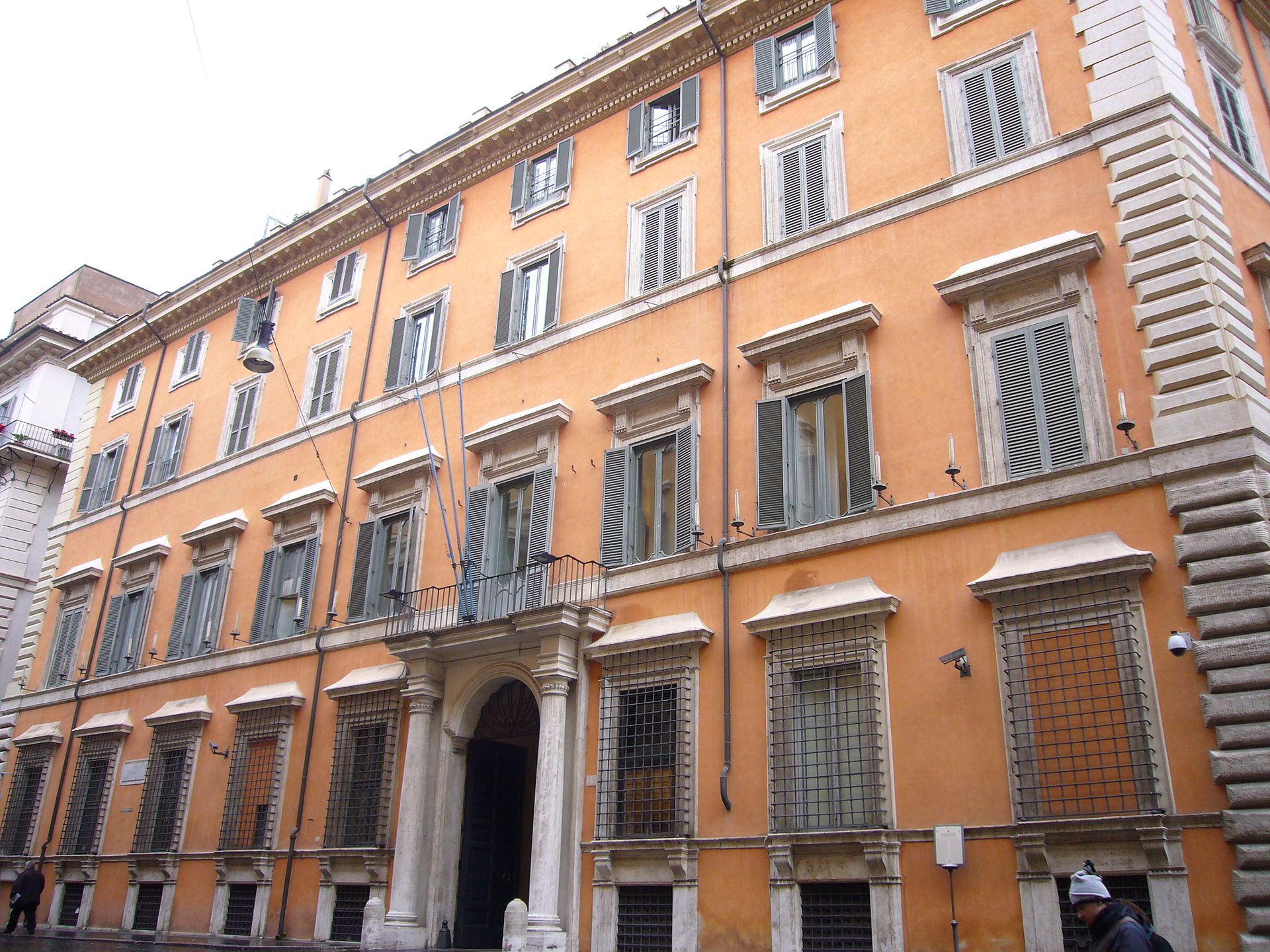 Palazzo giustiniani roma wikipedia for Senato della repubblica sede