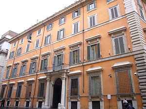 Palazzo Giustiniani, Rome - Image: S Eustachio palazzo Giustiniani 1150644