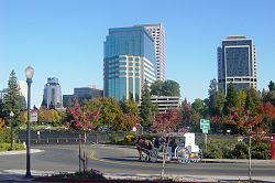 Skyline of City of Sacramento, California