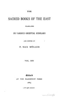 Sacred Books of the East - Volume 19.djvu