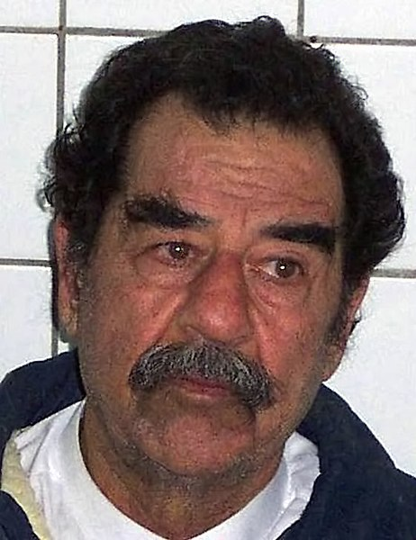 File:Saddam Hussein captured & shaven DD-SD-05-01885.jpg ... Saddam Hoessein