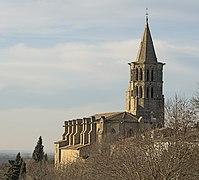 Saint-Félix-Lauragais - Eglise saint-Felix vue des remparts.jpg