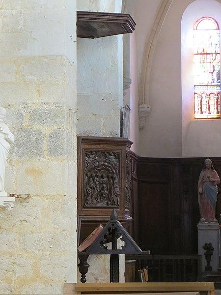 Chaire de l'église