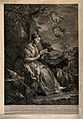 Saint Genevieve. Line engraving by J.J. Avt (?) after C. van Wellcome V0033460.jpg