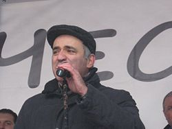 Garry Kasparov at  pro-democracy rally, 2012. Image: Anna Plotnikova.