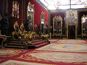 Succession to the Spanish throne - Throne in the Royal Palace of Madrid