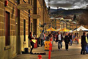 Paul Kelly (Australian musician) - Image: Salamanca Market Hobart Tasmania