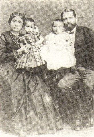 Emily Ruete - Emily with her husband and two of their children.