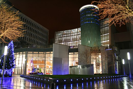 The Saltire Centre at Glasgow Caledonian University, one of the busiest university libraries in the UK Saltire Centre, GCU.jpg