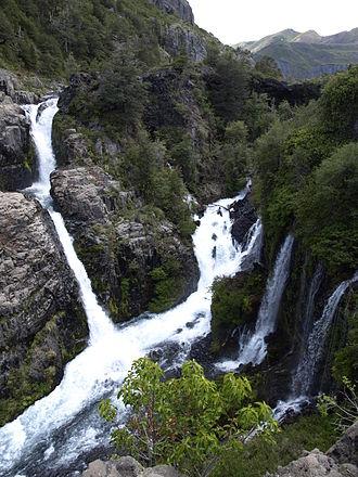 Laja River (Chile) - Las Chilcas Falls.