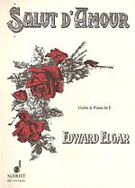 Cover of a set of sheet music, illustrated with a bright red drawing of a posy of flowers