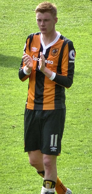 Sam Clucas - Clucas playing for Hull City in 2017