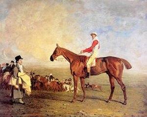 "Sam (horse) - ""Sam with Sam Chifney up"" by Benjamin Marshall."