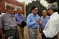 Samar Bagchi and NCSM Dignitaries with Ajoy Ray - MSE Golden Jubilee Celebration - Science City - Kolkata 2015-11-17 5156.JPG