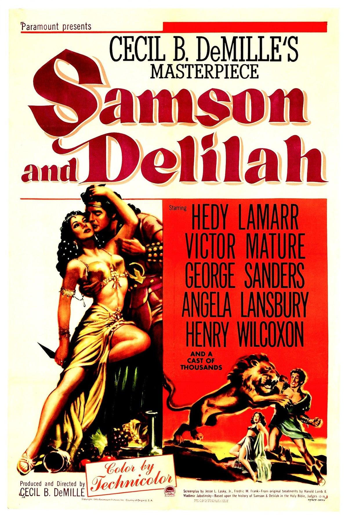 Resultado de imagen de samson and delilah film