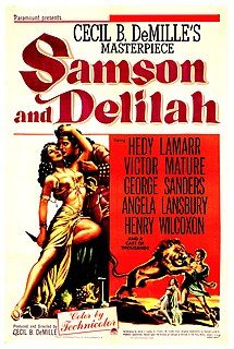<i>Samson and Delilah</i> (1949 film) 1950 film by Cecil B. DeMille
