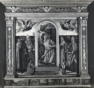 Francesco Botticini - Francesco Botticini, San Gerolamo Altarpiece, National Gallery, London